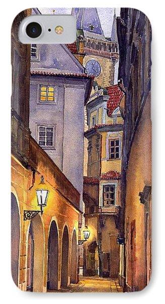 City Scenes iPhone 8 Case - Prague Old Street  by Yuriy Shevchuk