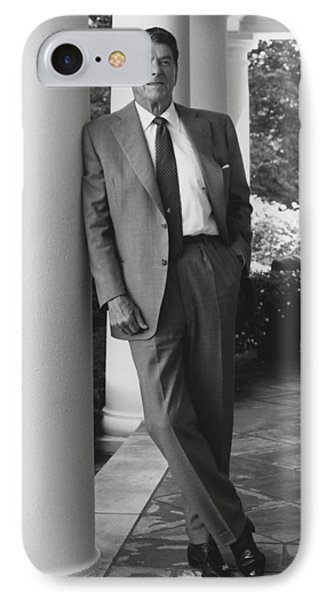President Reagan Outside The White House IPhone Case