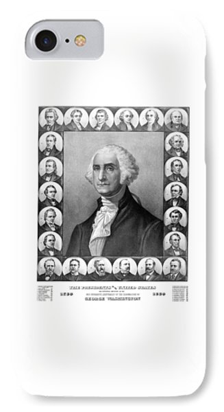 Presidents Of The United States 1789-1889 IPhone Case