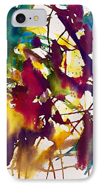 Primary Splatters Abstract  IPhone Case