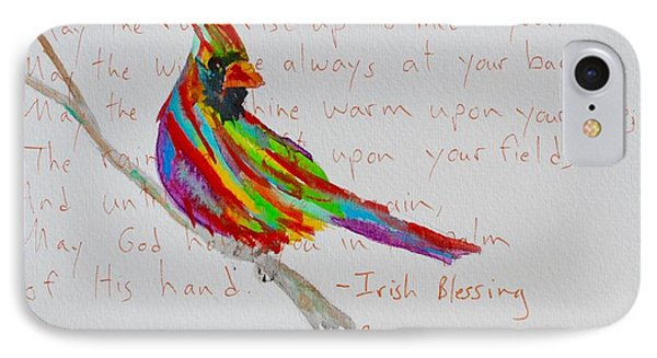Proud Cardinal With Blessing IPhone Case