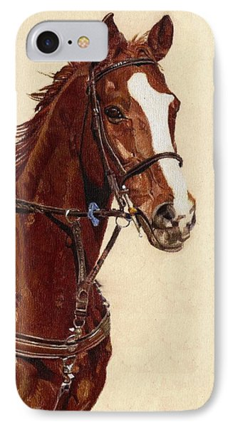 Proud - Portrait Of A Thoroughbred Horse IPhone Case