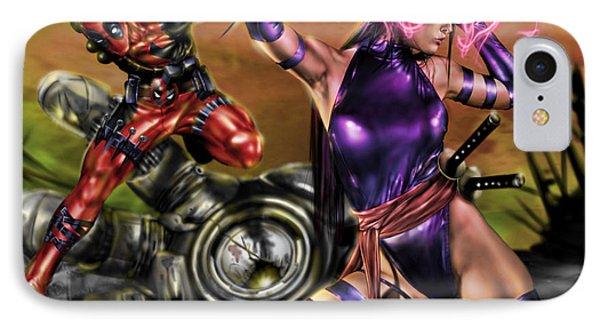 Psylocke And Deadpool IPhone Case