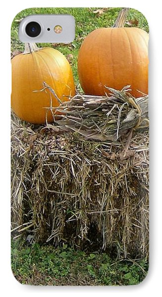 Pumpkins On A Haystack IPhone Case