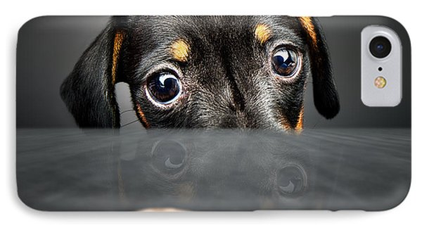 Puppies iPhone 8 Case - Puppy Longing For A Treat by Johan Swanepoel