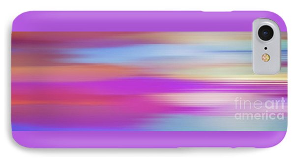 IPhone Case featuring the digital art Purple Bliss Sunrise Panorama By Kaye Menner by Kaye Menner