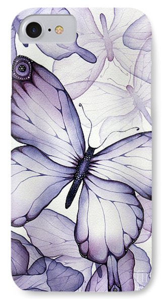 Whimsical iPhone 8 Case - Purple Butterflies by Christina Meeusen