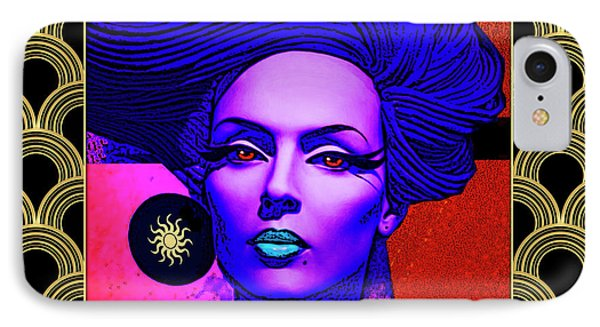 IPhone Case featuring the digital art Purple Lady - Deco by Chuck Staley