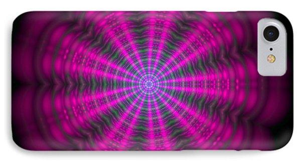 Purple Lightmandala Ripples IPhone Case