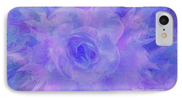 Purple Passion By Sherriofpalmspringsflower Art-digital Painting  Photography Enhancements Tradition IPhone Case
