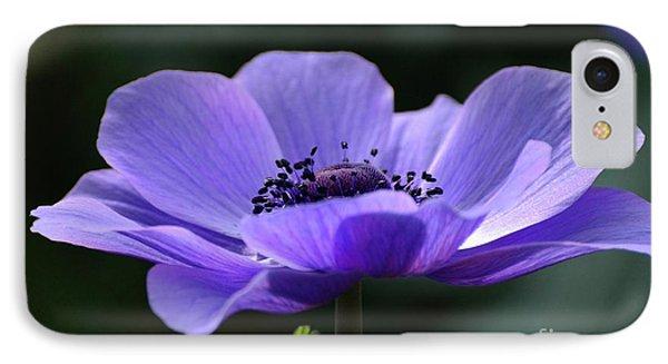 Purple Poppy Mona Lisa IPhone Case