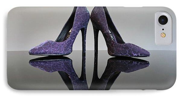 Purple Stiletto Shoes IPhone Case