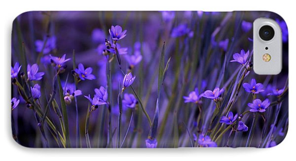 Purple Wildflowers In A Field IPhone Case