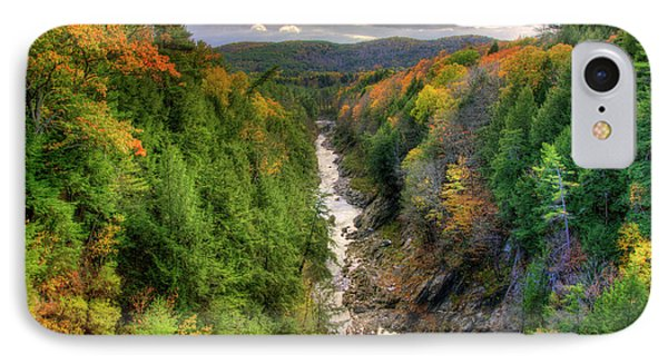 IPhone Case featuring the photograph Quechee Gorge - Quechee Vermont by Joann Vitali