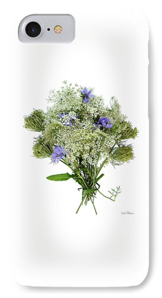 Queen Anne's Lace With Purple Flowers IPhone Case