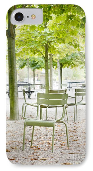 Quiet Moment At Jardin Luxembourg IPhone Case