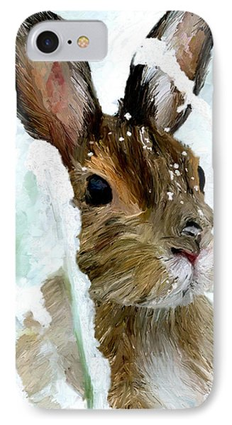 Rabbit In Snow IPhone Case