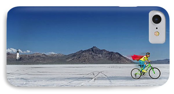 Racing On The Bonneville Salt Flats IPhone Case