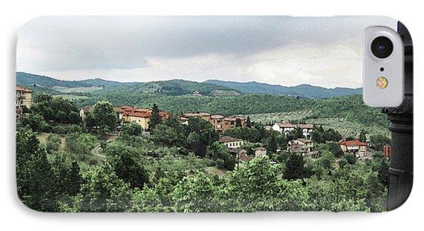 Radda Landscape From Balcony IPhone Case
