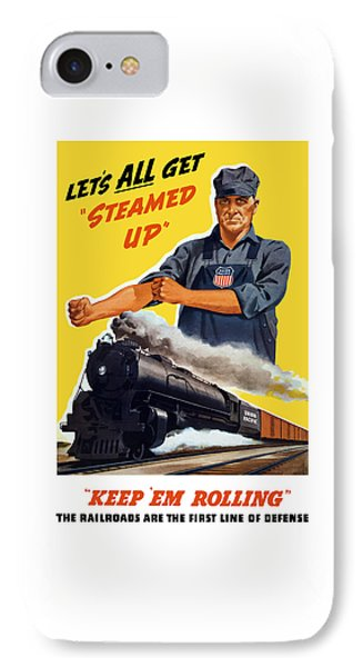 Train iPhone 8 Case - Railroads Are The First Line Of Defense by War Is Hell Store