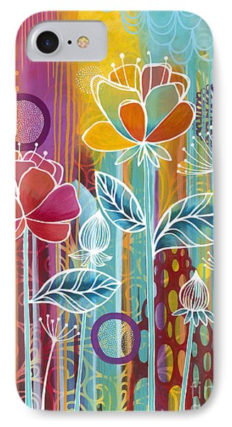 IPhone Case featuring the painting Raindrops  by Carla Bank