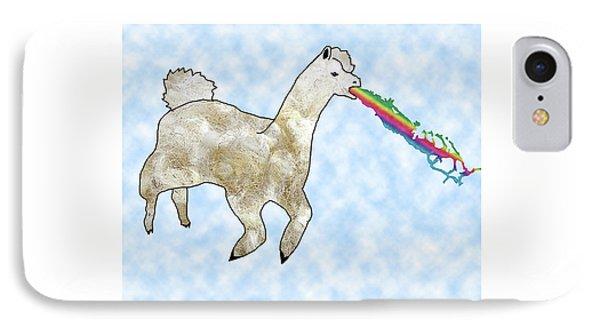 Rainbow Barfing Llama IPhone Case