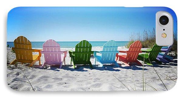 Sand iPhone 8 Case - Rainbow Beach Vanilla Pop by Chris Andruskiewicz
