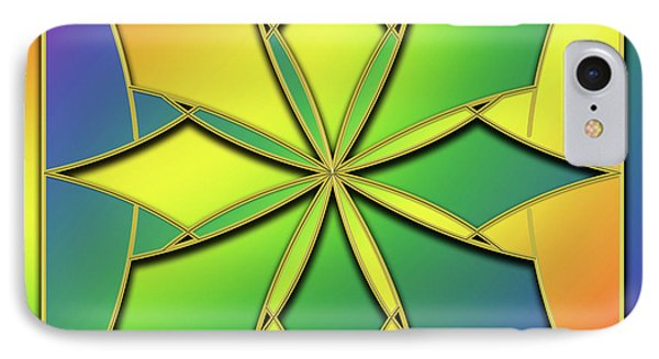 IPhone Case featuring the digital art Rainbow Design 8 by Chuck Staley