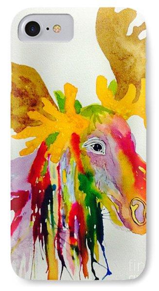 Rainbow Moose Head  - Abstract IPhone Case