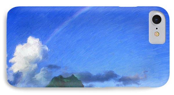 Rainbow Over Bora Bora IPhone Case