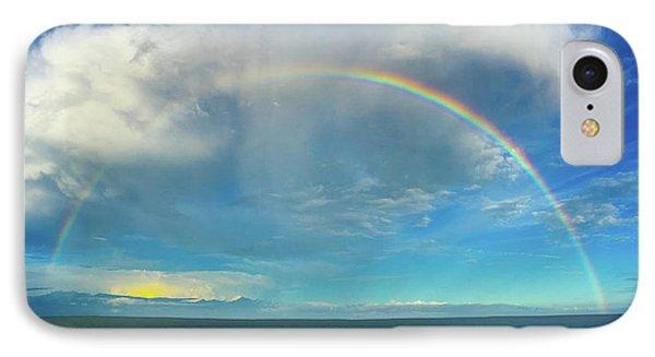 Rainbow Over Topsail Island IPhone Case