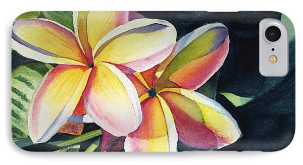 Flowers iPhone 8 Case - Rainbow Plumeria by Marionette Taboniar