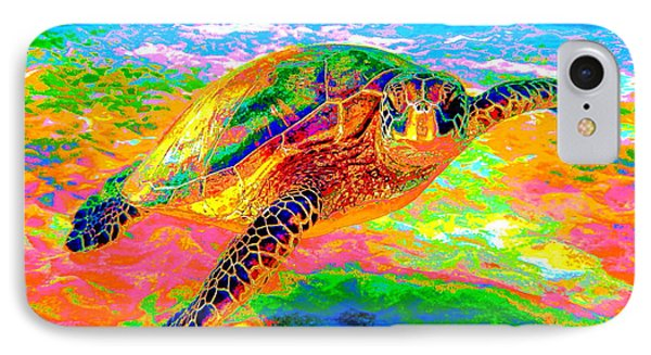 Rainbow Sea Turtle IPhone Case