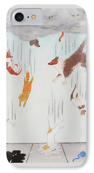 Raining Cats And Dogs IPhone Case