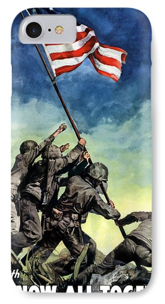 American iPhone 8 Case - Raising The Flag On Iwo Jima by War Is Hell Store