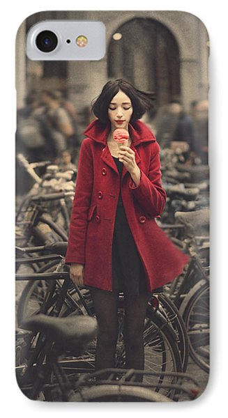 Bicycle iPhone 8 Case - raspberry sorbet in Amsterdam by Anka Zhuravleva