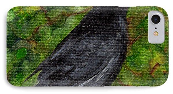 Raven In Wirevine IPhone Case
