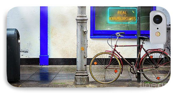 IPhone Case featuring the photograph Real Hamburgers Bicycle by Craig J Satterlee