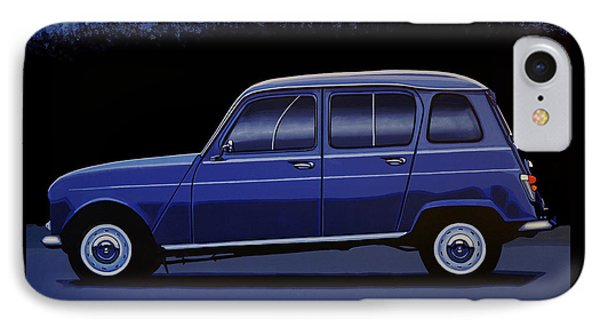 Truck iPhone 8 Case - Renault 4 1961 Painting by Paul Meijering