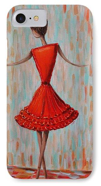 Red Ballerina IPhone Case