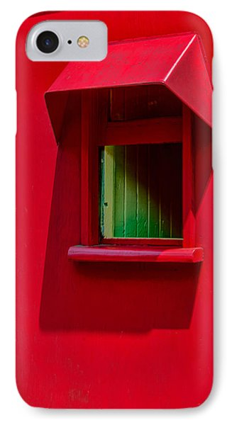 Red Caboose Window In Shade IPhone Case