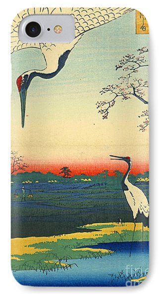 Red Crowned Cranes 1857 IPhone Case