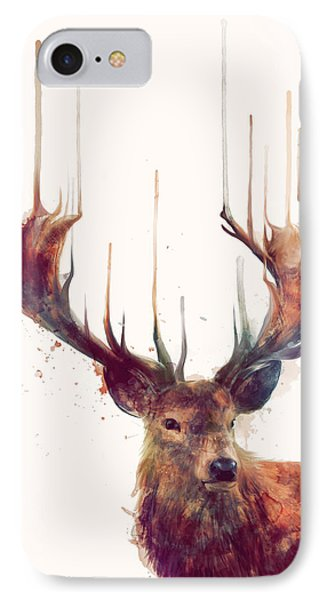 Nature iPhone 8 Case - Red Deer by Amy Hamilton