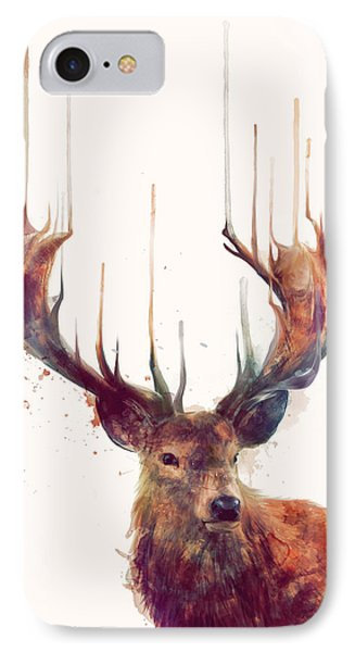Animals iPhone 8 Case - Red Deer by Amy Hamilton