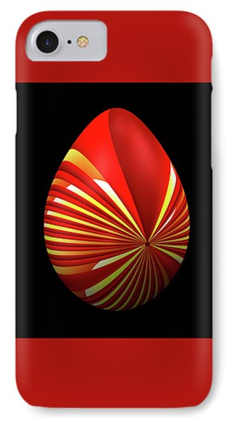 Red Easter Egg IPhone Case
