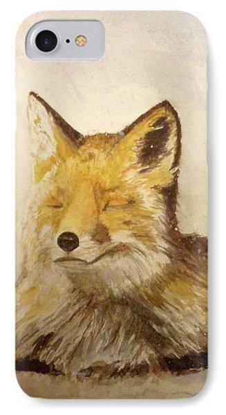 Red Fox Rest IPhone Case