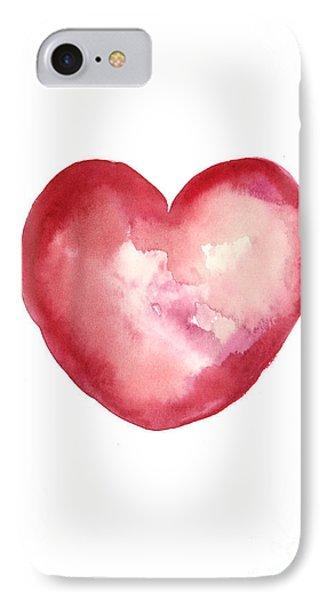 Print iPhone 8 Case - Red Heart Valentine's Day Gift by Joanna Szmerdt