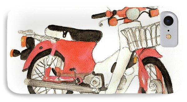 Red Motor Bike IPhone Case
