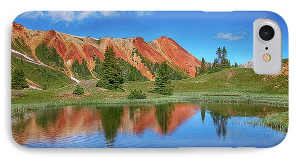 Red Mountain-grey Copper Gulch IPhone Case