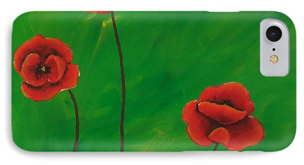 Red Poppies IPhone Case